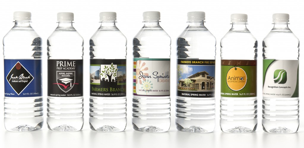 personalized bottled water labels